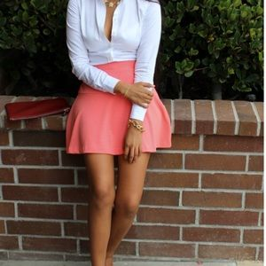 Pink Fit and Flare Skirt from Banana Republic!